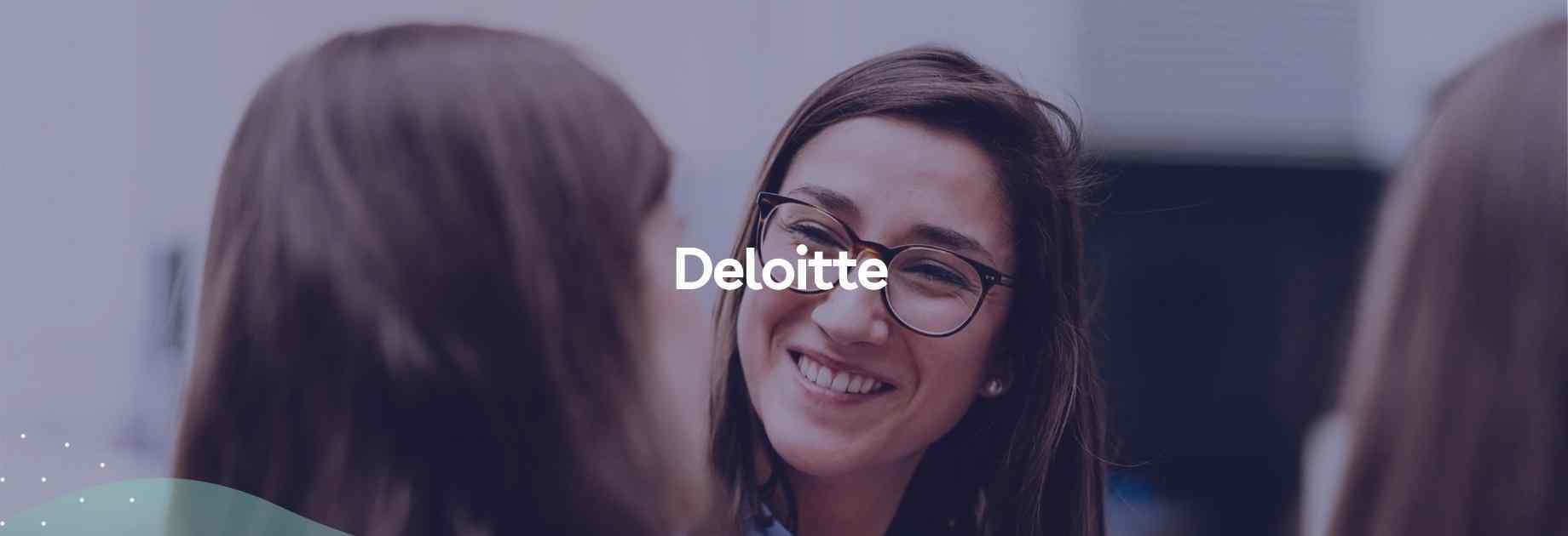 Deloitte employee smiling