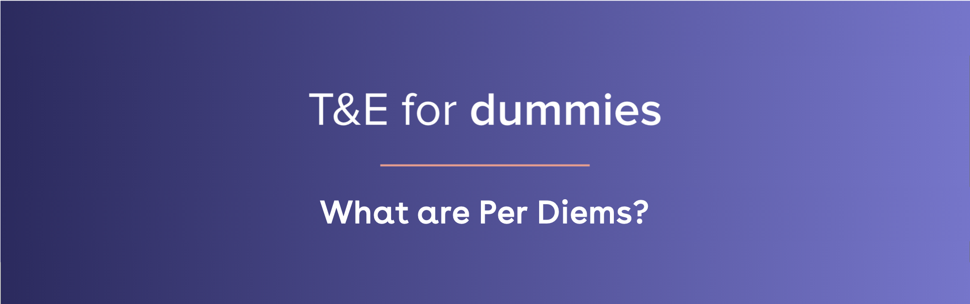 what are per diems