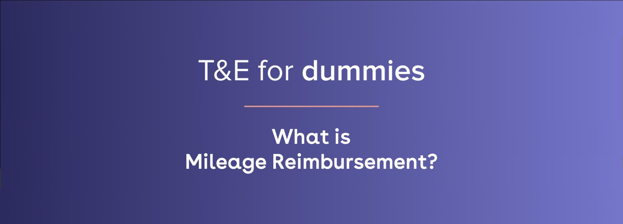 what is mileage reimbursement