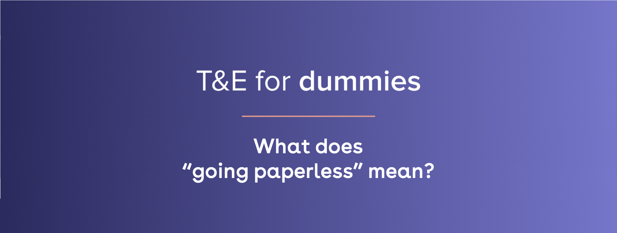 what does going paperless mean