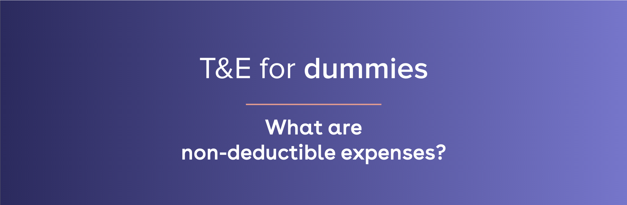 what are non-deductible expenses