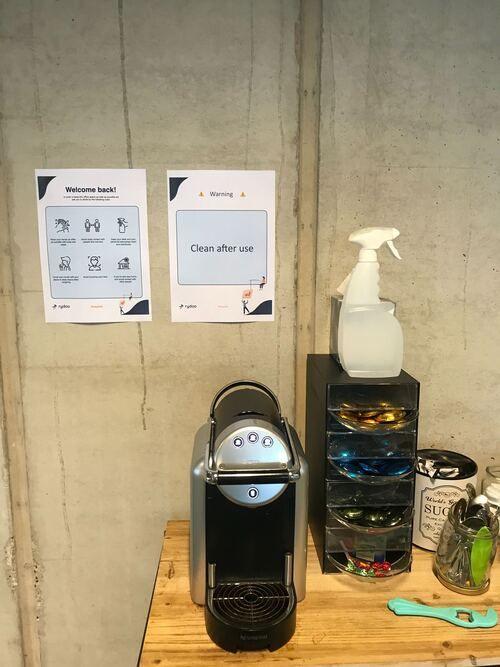 mechelen coffee machine disinfecting spay