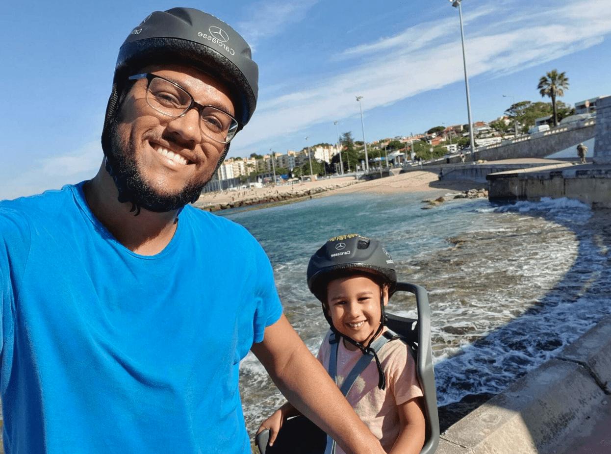 biking in sunny Lisbon