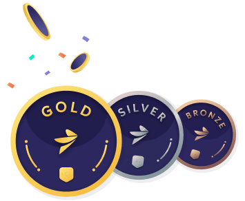 Partners Gold Silver and Bronze coins