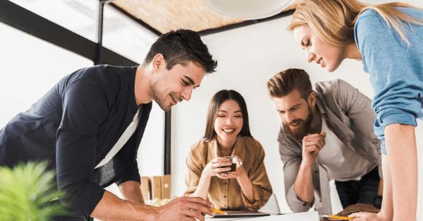 digital integration | happy team working together