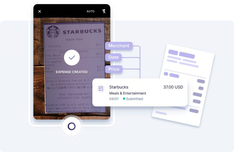 Phone scanning receipts with graph