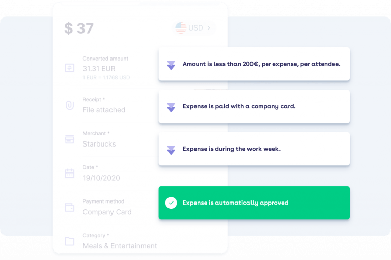 Expense is automatically approved after some checks