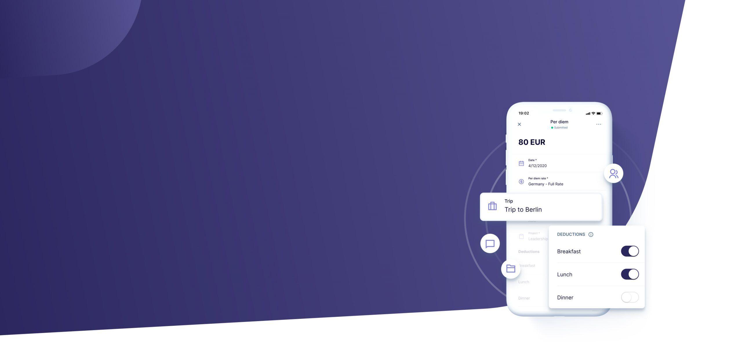 Per Diems on the smartphone app