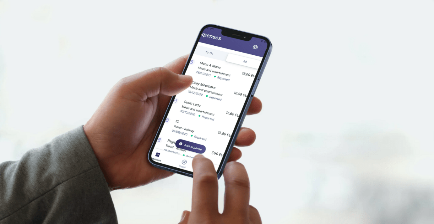 mock up mobile expenses