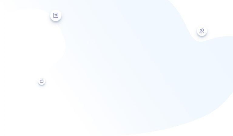 Compliance header blue blob white circles