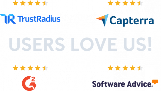 Reviewer badges from trustradius capterra g2crowd and software advice